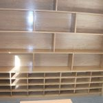 Oak filing and storage unit