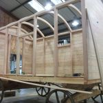 Shepherds Hut being boarded